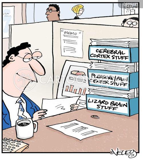 in tray cartoon