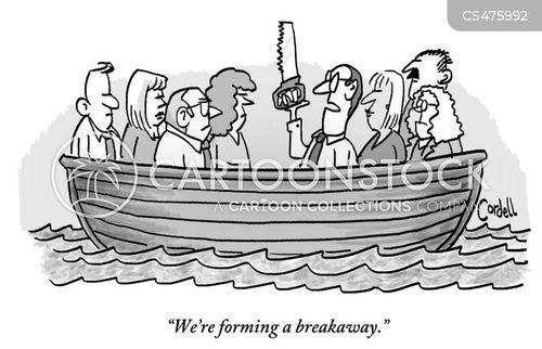 life-raft cartoon