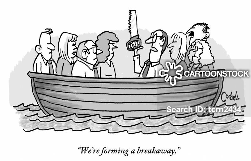 breakaway strategy cartoon