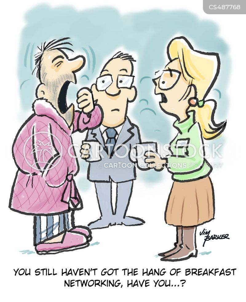 networking events cartoon