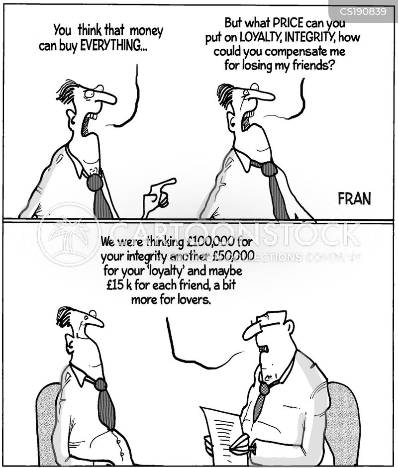 company loyalty cartoon