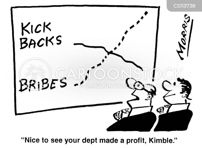 rising profit cartoon