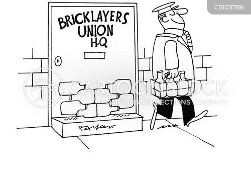 bricklaying cartoon