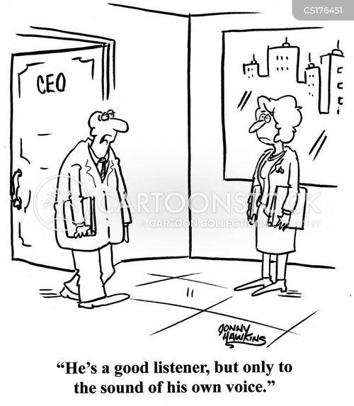Cartoon – He's a good listener | HENRY KOTULA