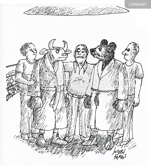 stock brokers cartoon