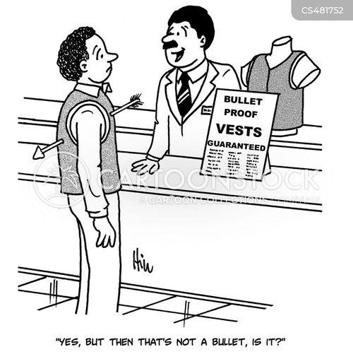 bullet proof vest cartoon