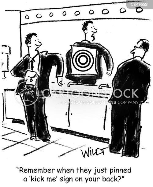 bulls-eye cartoon
