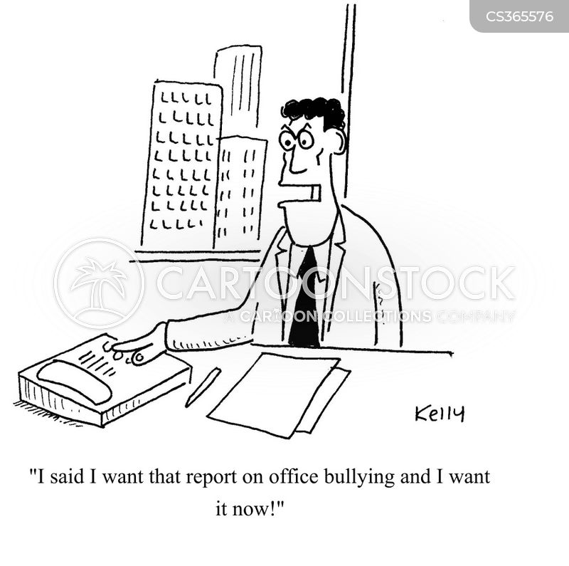 office bully cartoon
