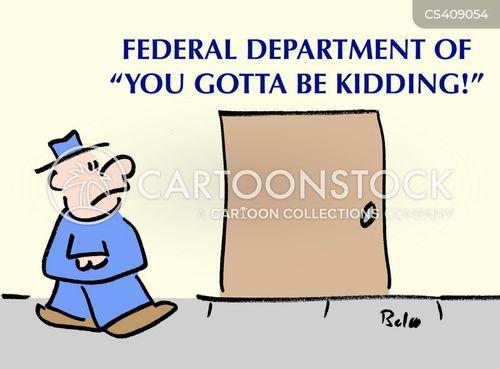 federal departments cartoon