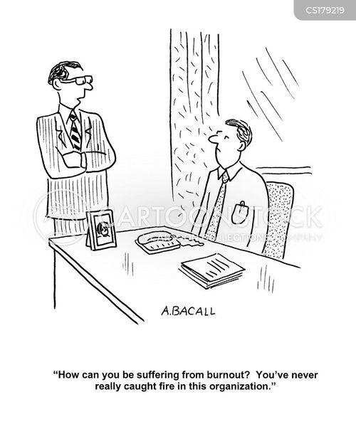 burnout cartoon