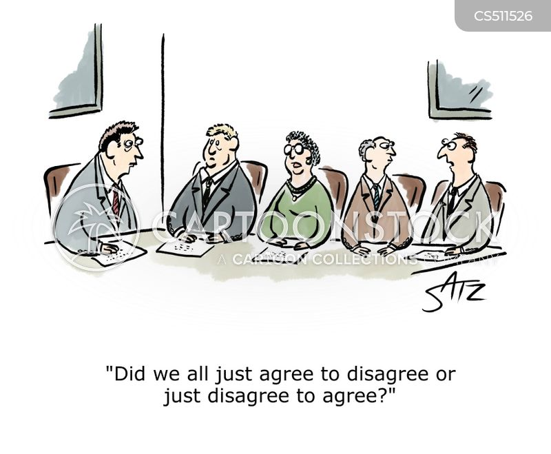 agree to disagree cartoon