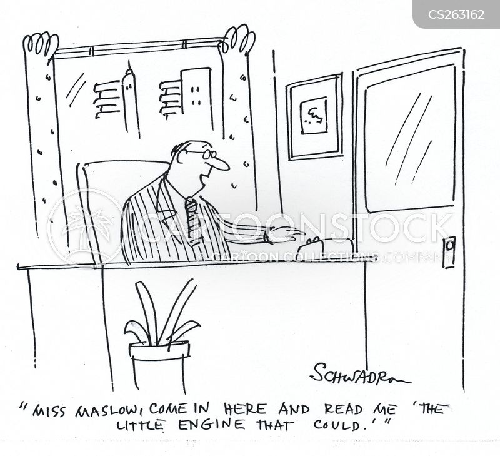 assisting cartoon
