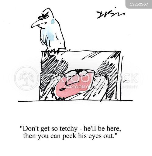 pecked cartoon