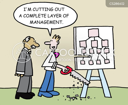 management layers cartoon