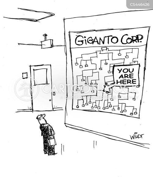 company hierarchy cartoon