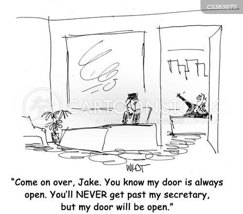 open doors cartoon