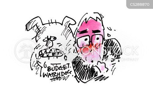 overseeing cartoon
