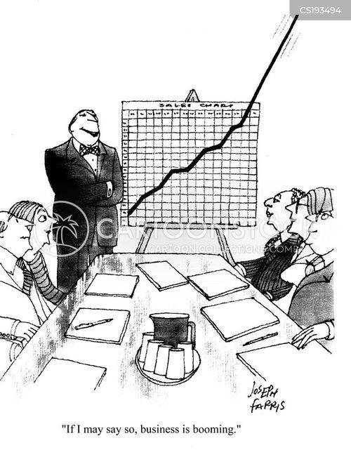 booming business cartoon