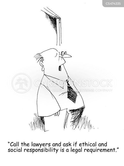 social responsibility cartoon