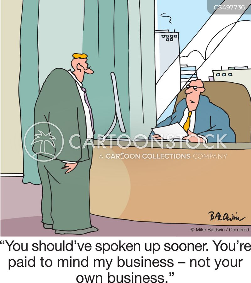 speaking up cartoon