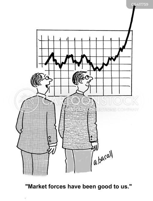 business graphs cartoon