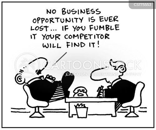 fumbling cartoon