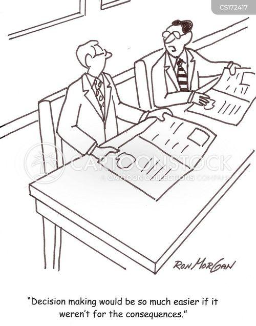 business decisions cartoon