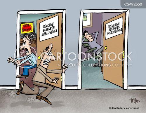 business data cartoon