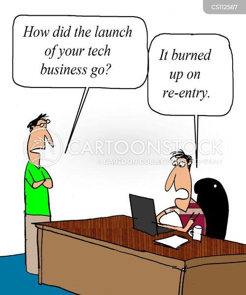 online business cartoon