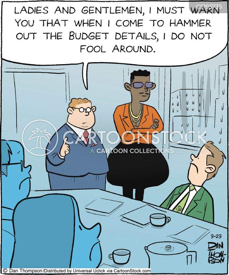 tough boss cartoon