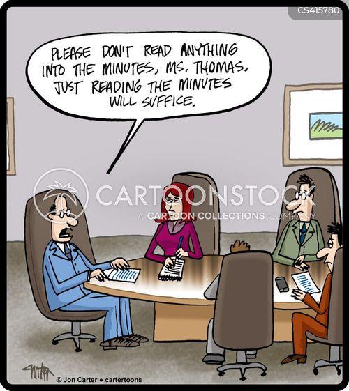 meeting room cartoon