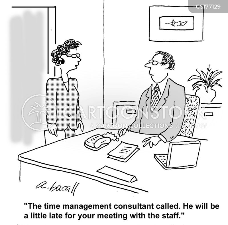 managing time cartoon