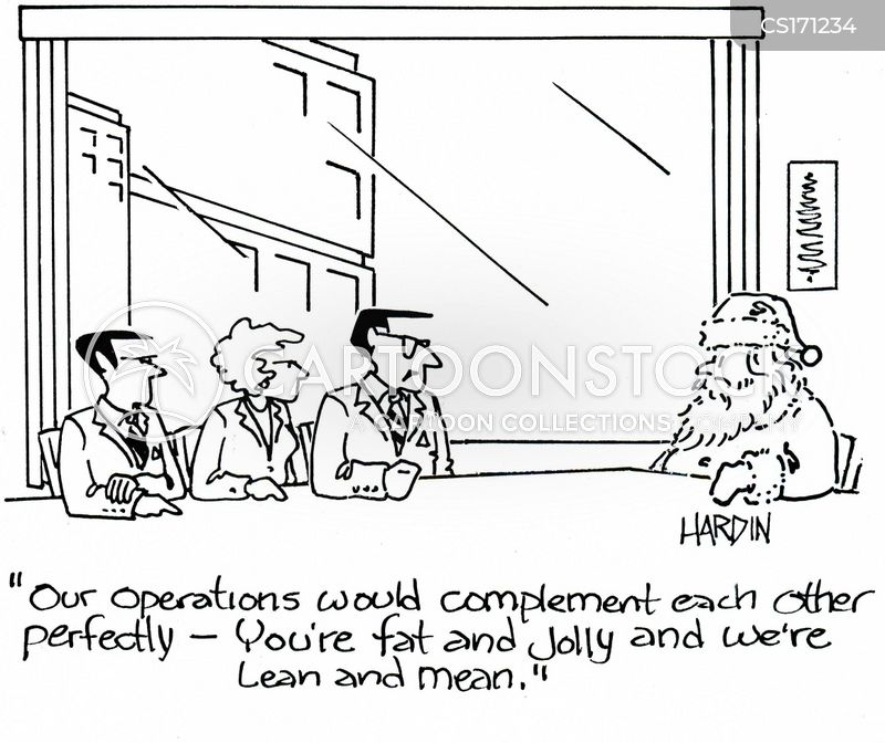 corporate mergers cartoon