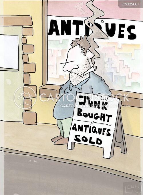 junk store cartoon