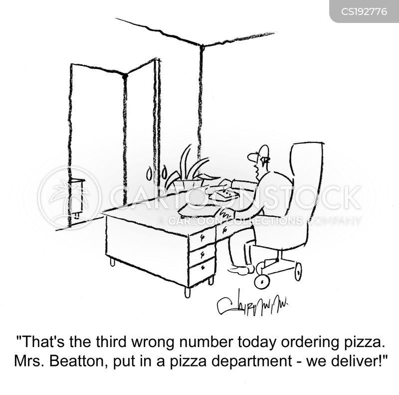 pizza deliveries cartoon