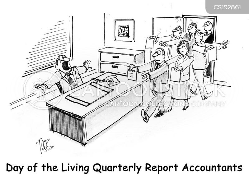 business report cartoon