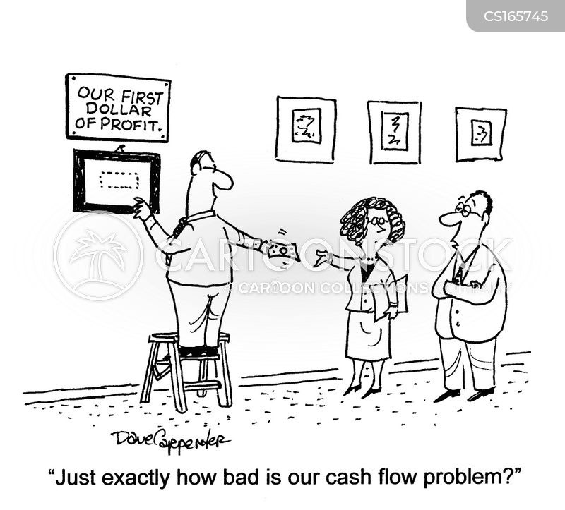 Cartoon – Cash Flow Problems | HENRY KOTULA