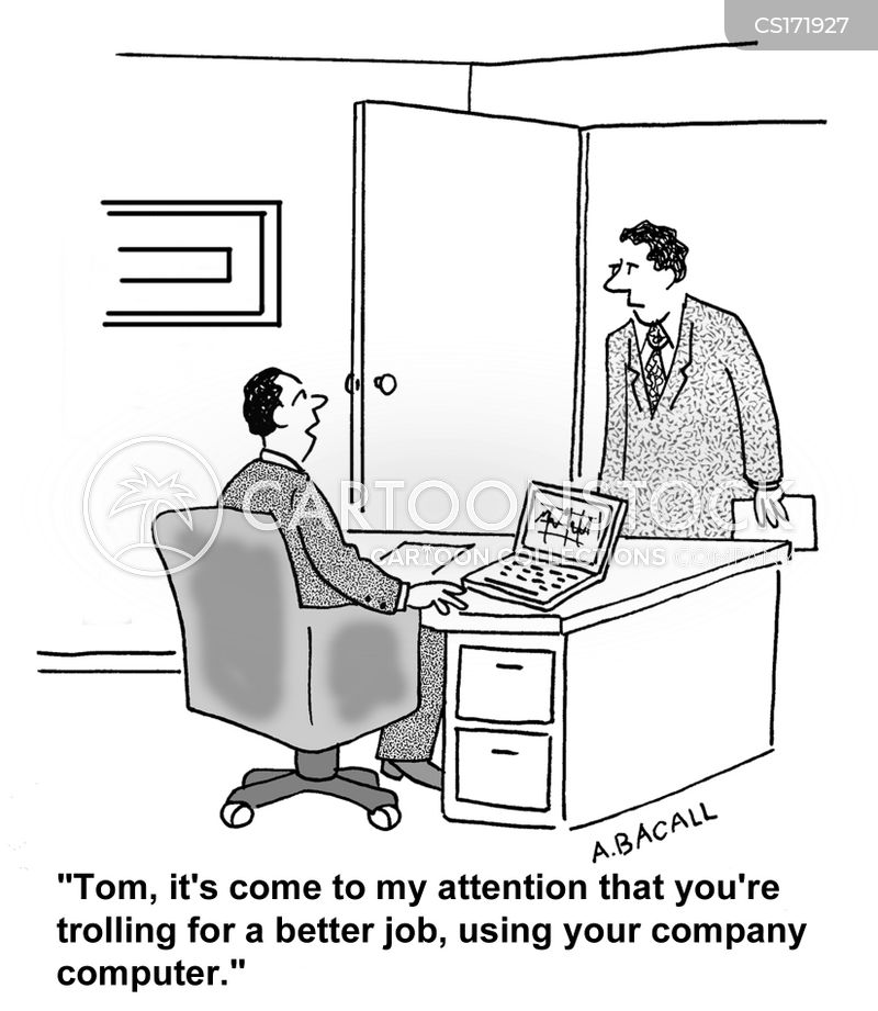 job search cartoon