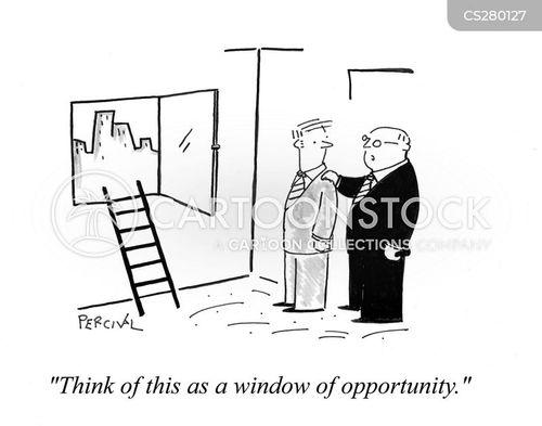 window of opportunity cartoon