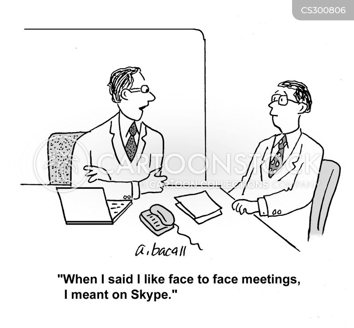 face-to-face cartoon
