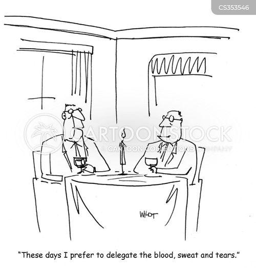blood sweat and tears cartoon