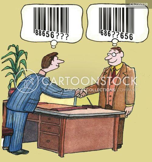 bar-codes cartoon