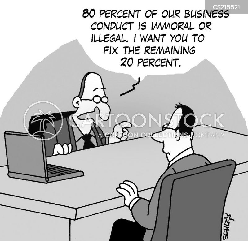 ethical behavior cartoon