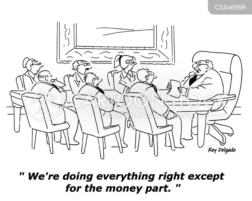 loses money cartoon