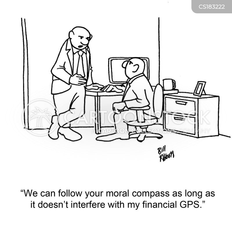 moral compass cartoon