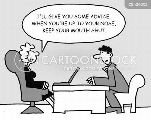 business mentors cartoon