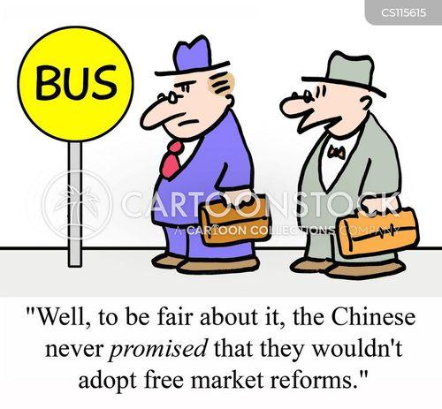 trade agreements cartoon