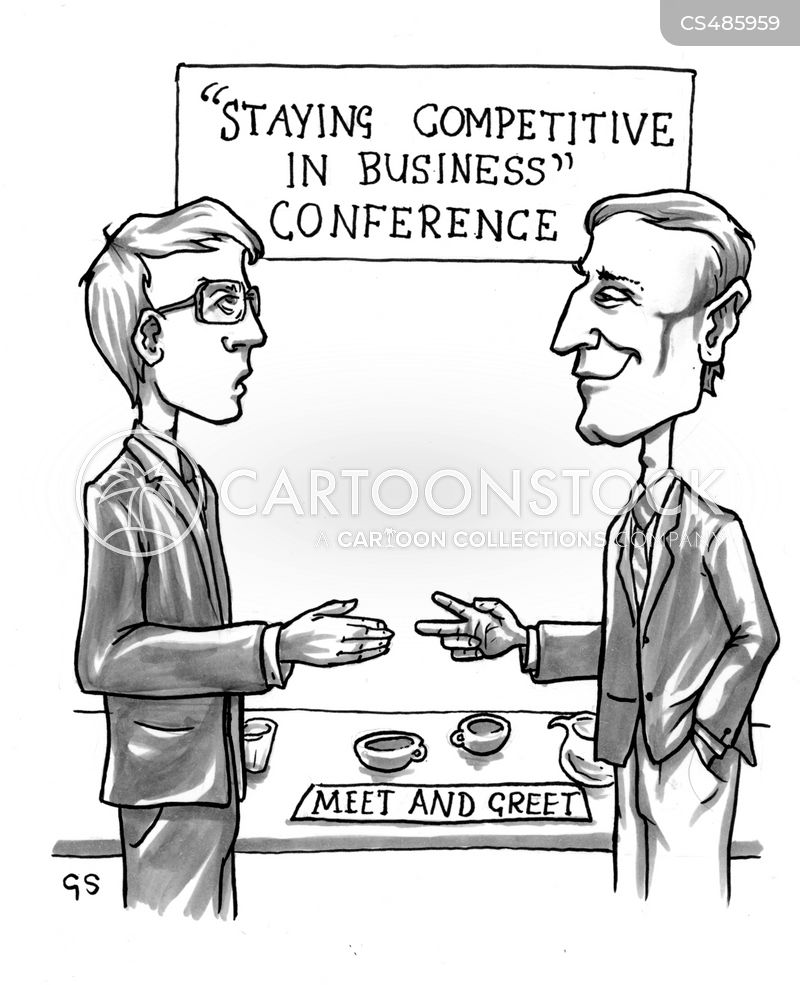 competitive environment cartoon