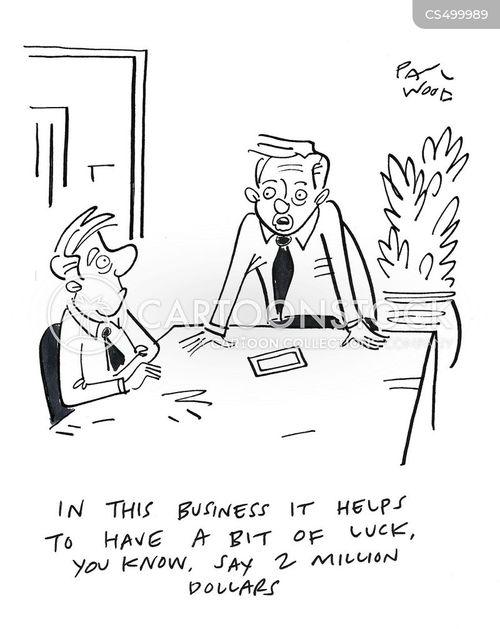 start-up cost cartoon