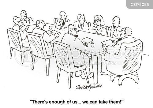 hostile negotiations cartoon